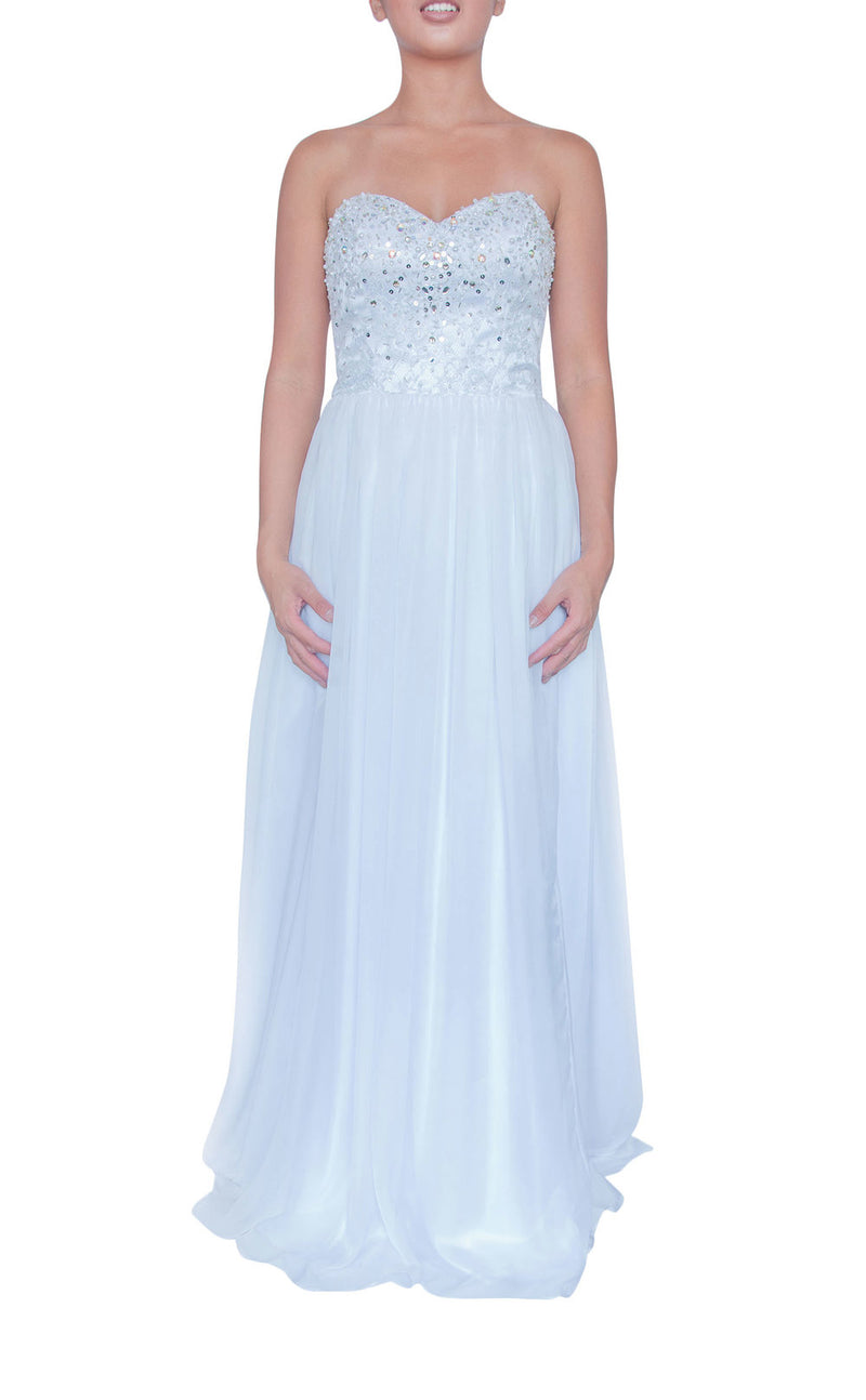 Tequila Sunrise Gown - White