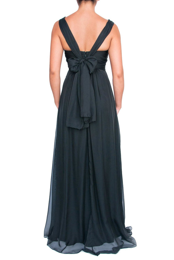 Chiffon Multiway Gown - Black