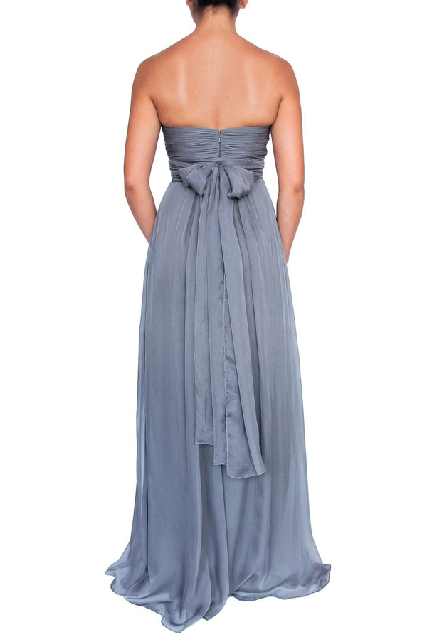 Chiffon Multiway Gown - Dark Charcoal