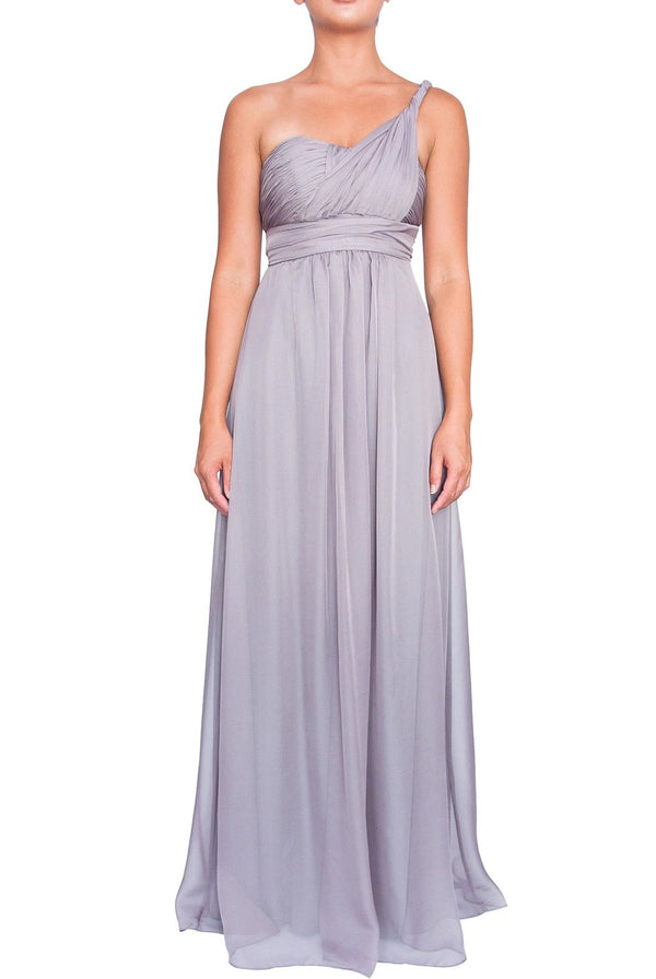 Chiffon Multiway Gown - Light Charcoal
