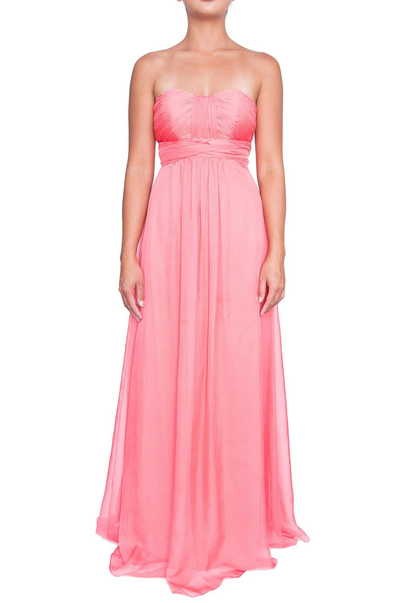 Chiffon Multiway Gown - Coral