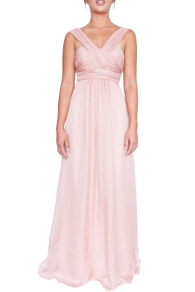 Chiffon Multiway Gown - Dusty Pink