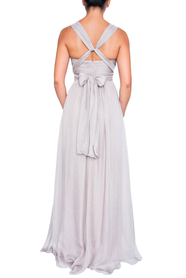 Chiffon Multiway Gown - Oyster