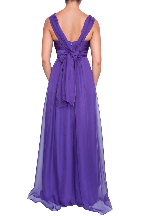 Chiffon Multiway Gown - Purple