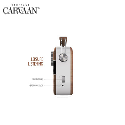 Saregama Carvaan Hindi - Portable Music Player with 5000 Preloaded Songs, FM/BT/AUX ( Oakwood Brown )