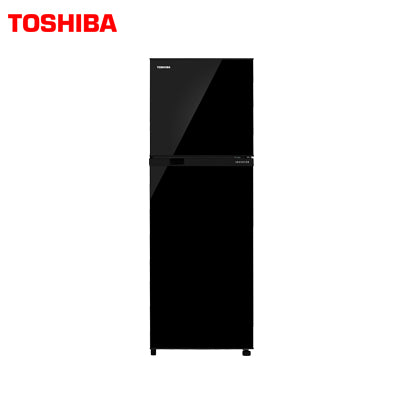 TOSHIBA 252 Ltr, Frost Free, Real Inverter, Silver Bio Deodorizer, Glass Door Finish (BLACK)  GR-A28INU (UK)