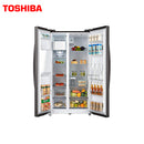 TOSHIBA REFRIGERATOR SIDE BY SIDE  GR-RS508WE-PMI(06) 568L, DISPENSER, REAL INVERTER S.STEEL