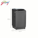 Godrej 7.5 KG Fully Automatic Top Load Washing Machine WT EON ALLURE 7.5 RoGr PHA