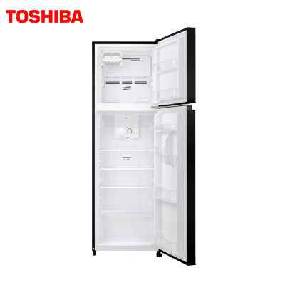 TOSHIBA 272 Ltr, Frost Free, Real Inverter, Silver Bio Deodorizer, Glass Door Finish (Black) GR-B31INU (UK)