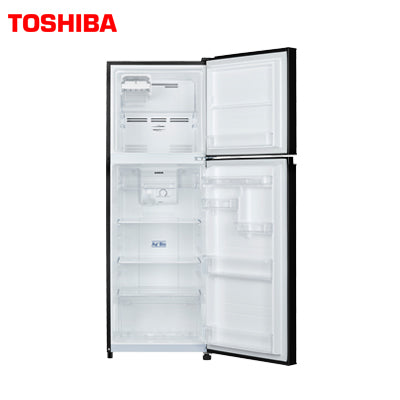 TOSHIBA 252 Ltr, Frost Free, Real Inverter, Silver Bio Deodorizer, Glass Door Finish (Blue)  GR-A28INU (UB)