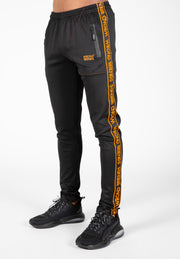 LYON TRACK PANTS - BLACK/ORANGE