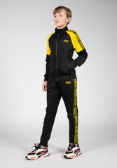 LYON TRACK PANTS - KIDS - BLACK/YELLOW