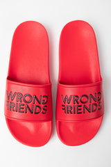 WRONG FRIENDS SLIDES RED