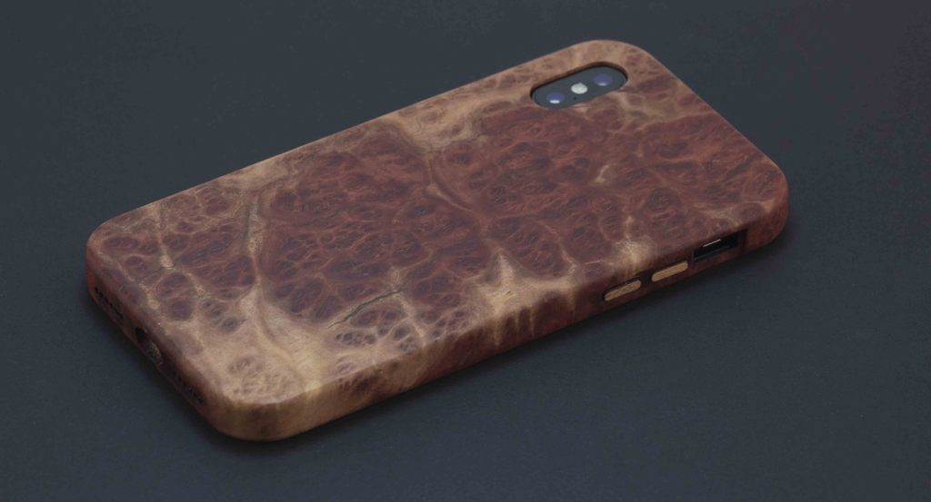 KerfCase Red Mallee Burl for iPhone X