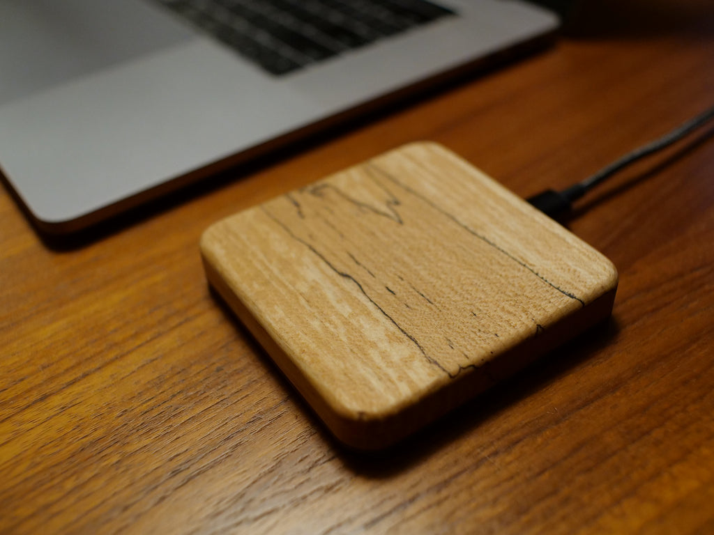 kerfcase wood wireless charging block qi fast charge usb c for iPhone google pixel Samsung Galaxy