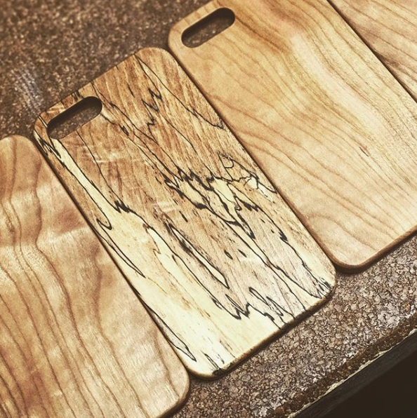 spalted maple iphone 7 plus iphone 8 reclaimed wood phone case
