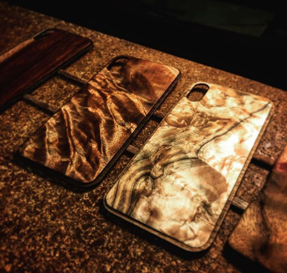 KerfCase Alloy iPhone X Figured Koa Figured Ambrosia Maple