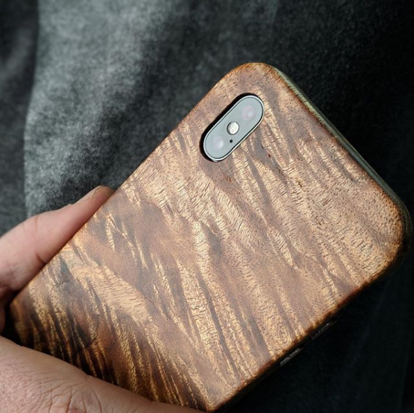 Figured Koa KerfCase for iPhone X