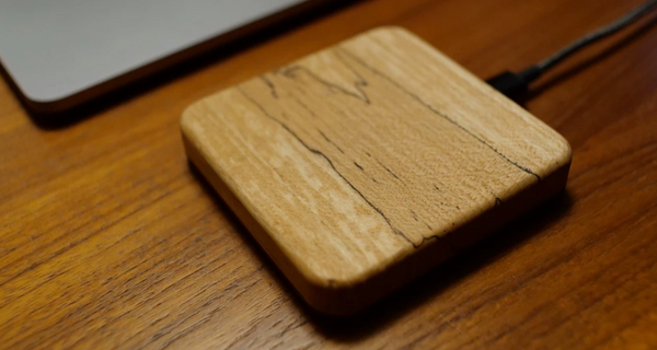 wood wireless charging block