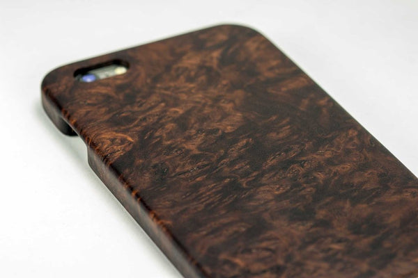 KerfCase Amboyna Burl Wood iPhone Case for iPhone 7, iPhone 7 Plus