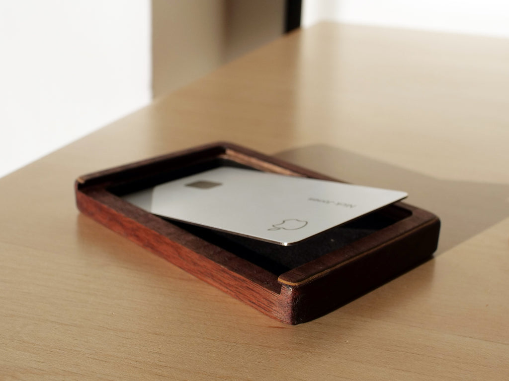wood case for apple card - wood protective cover for apple card