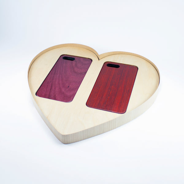 padauk purpleheart kerfcase wood phone case for iPhone 7 Plus, iPhone 8 Plus