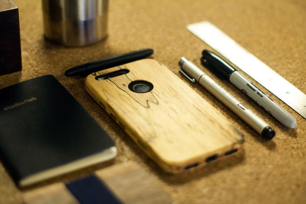 KerfCase for Google Pixel, spalted maple