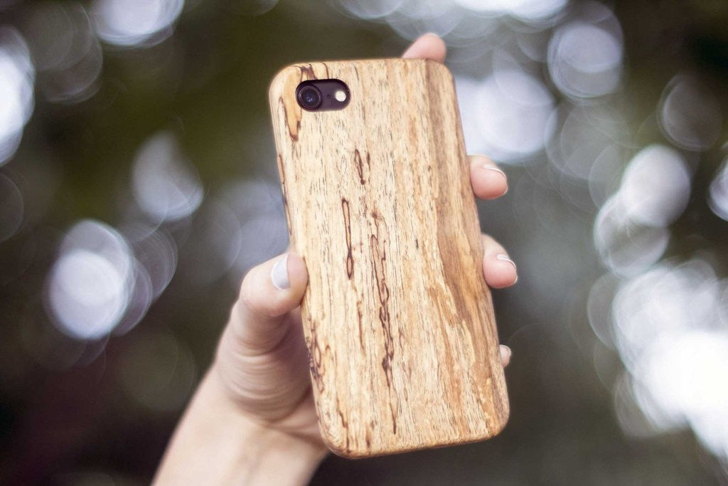 iPhone 7 wood case in spalted maple
