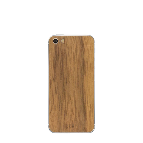 Walnut skin for iPhone SE