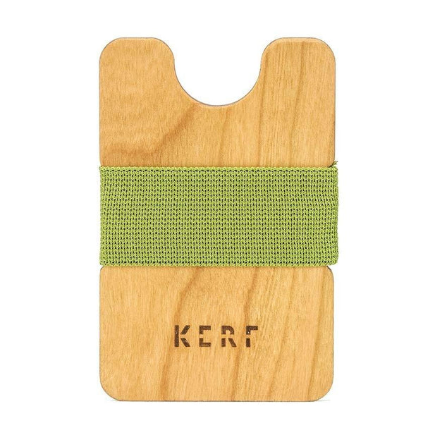 Wood Wallet - Cherry Green