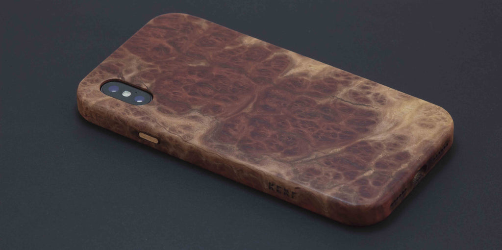 pretty nice 02025 bd033 Kerf Select Red Mallee Burl iPhone X case