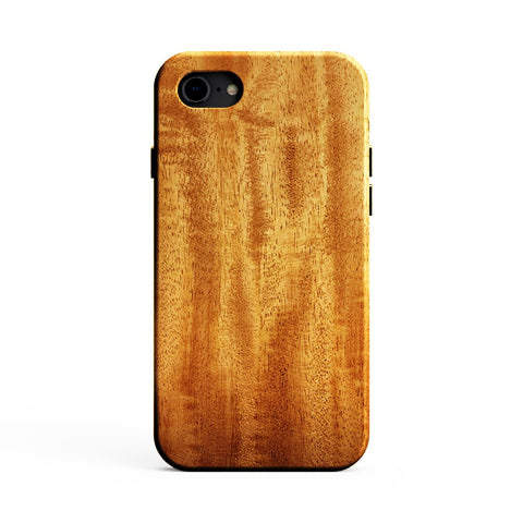 KerfCase African Mahogany Wood Phone Case for iPhone SE