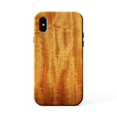 African Mahogany iPhone X Wood KerfCase Phone Case