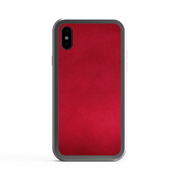 Alloy Wood and metal and leather wood case for iPhone X