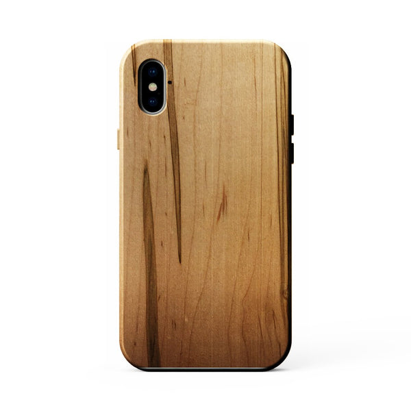 KerfCase Ambrosia Maple Wood Phone Case for iPhone X