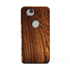 Bocote wood phone case kerfcase for google pixel 2