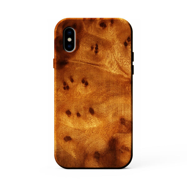 Kerf Select Camphor Burl Wood Case