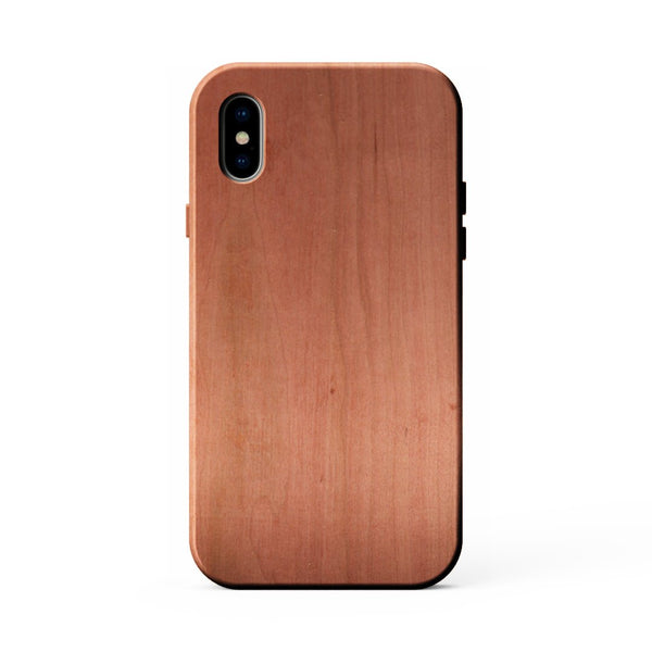 cherry wood iphone case for iphone x