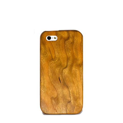 Cherry Wood iPhone SE Case - Lifestyle