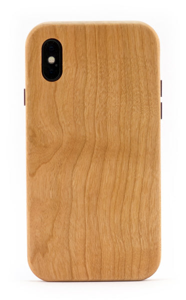 iPhone X Wooden Cases - Handmade from Cherry Wood - KerfCase - Made in USA