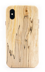 Wooden iPhone X Cases - iPhone X Wood Case - Spalted Maple Wood - Solid, Real WOOD. Handmade in Pittsburgh by KerfCase