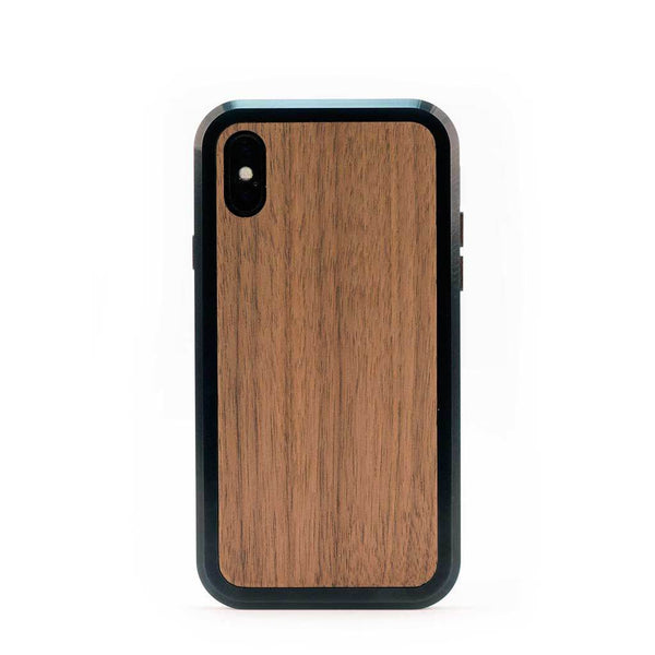 iPhone X case -wood and aluminum metal - KerfCase