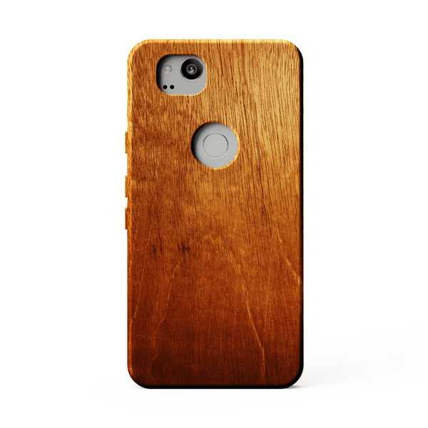 mahogany kerfcase wood case for google pixel 2