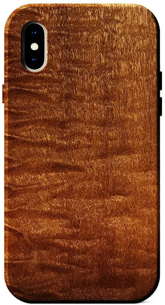 Quilted Sapele wood case for iPhone