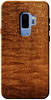 Quilted Sapele wood case for Galaxy