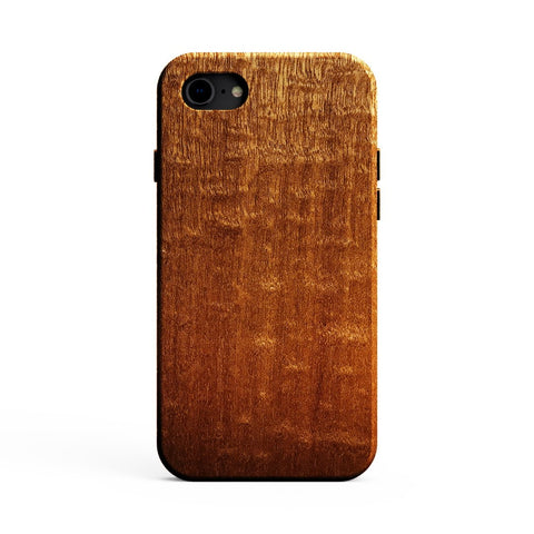 Figured Sapele Wood Case for iPhone SE