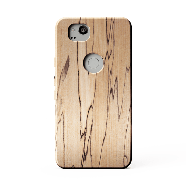 kerfcase spalted maple wood phone case for google pixel 2