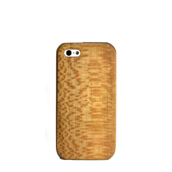Sycamore wood case for iPhone SE