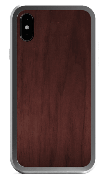 Alloy Wood and metal and leather wood case for iPhone 7 Plus iPhone 8 Plus