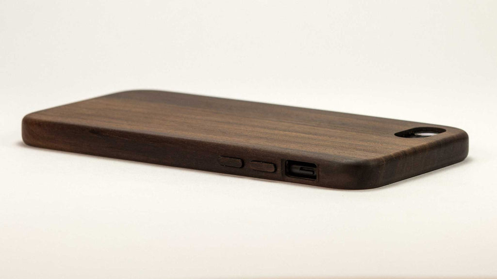 Wood iPhone 7 Case - Bulletwood - flat studio side - KerfCase - Lifestyle